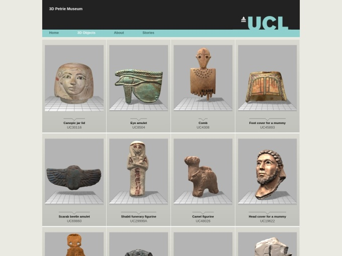 http://www.ucl.ac.uk/3dpetriemuseum/3dobjects