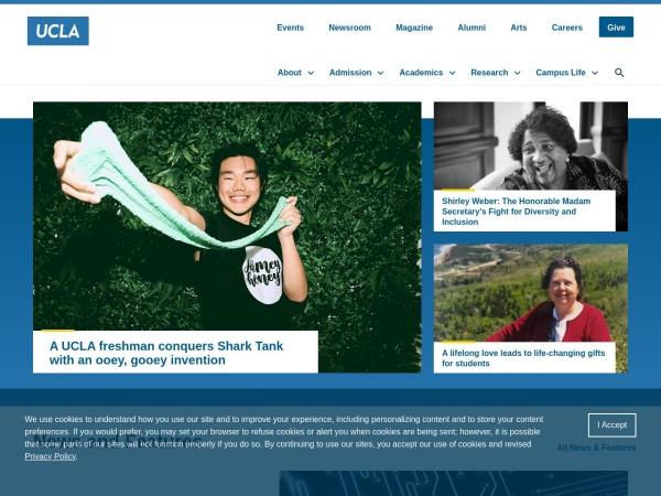 Screenshot of www.ucla.edu