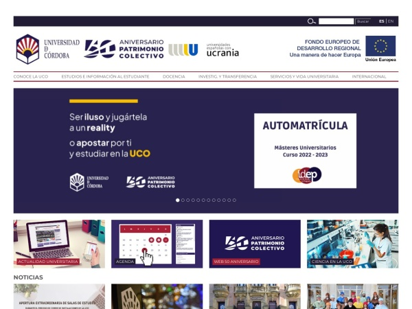 Screenshot of www.uco.es