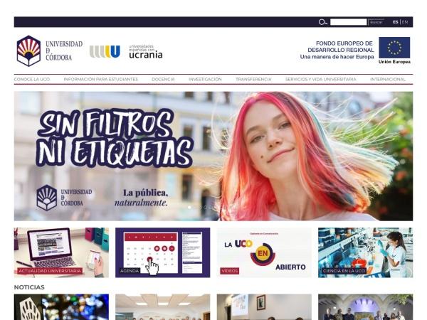 Screenshot of www.uco.es