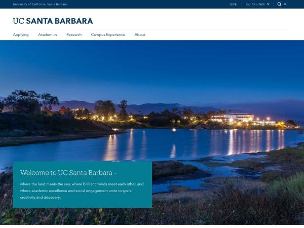 Screenshot of www.ucsb.edu