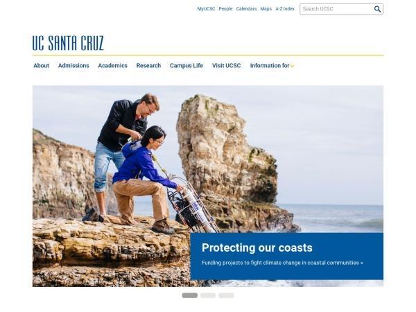 Screenshot of www.ucsc.edu