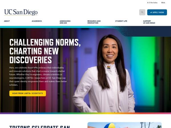 Screenshot of www.ucsd.edu