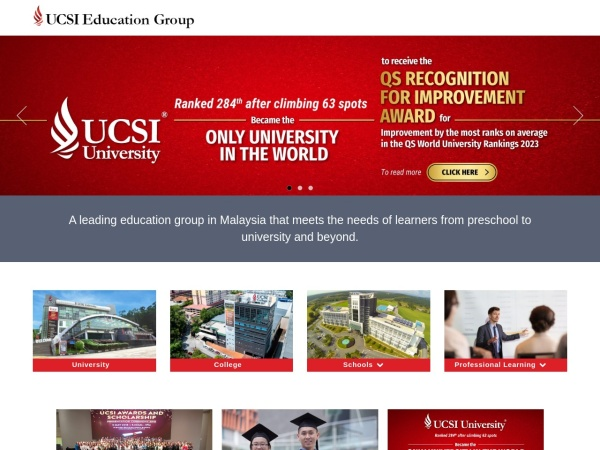 Screenshot of www.ucsi.edu.my