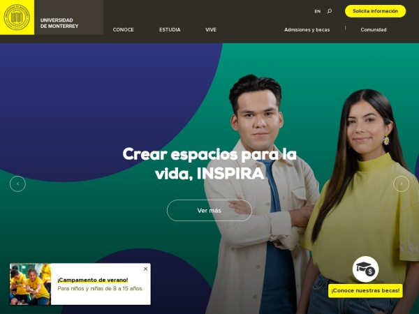 Screenshot of www.udem.edu.mx