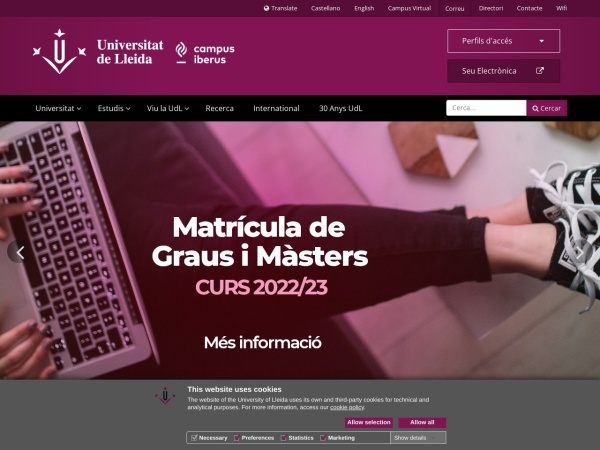 Screenshot of www.udl.es