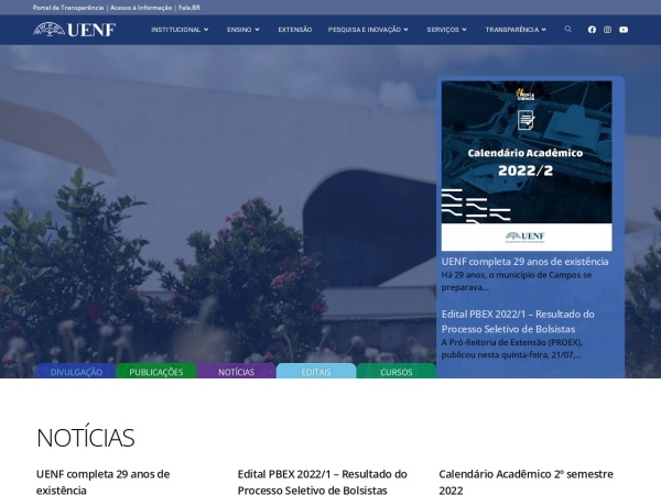Screenshot of www.uenf.br