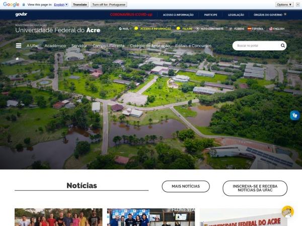 Screenshot of www.ufac.br