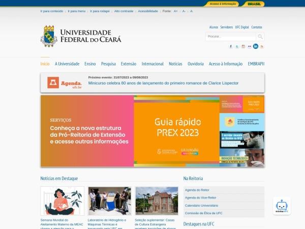 Screenshot of www.ufc.br