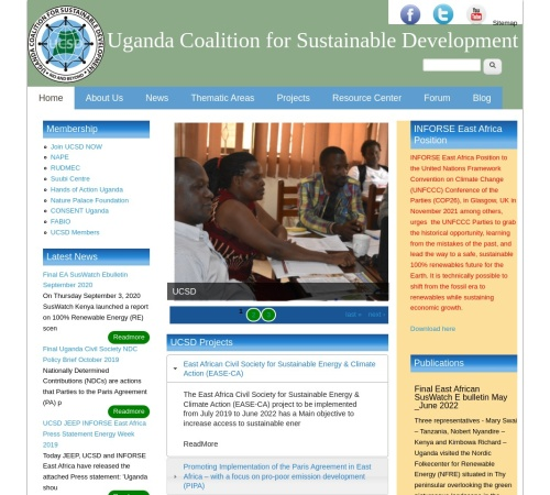 Screenshot of www.ugandacoalition.or.ug