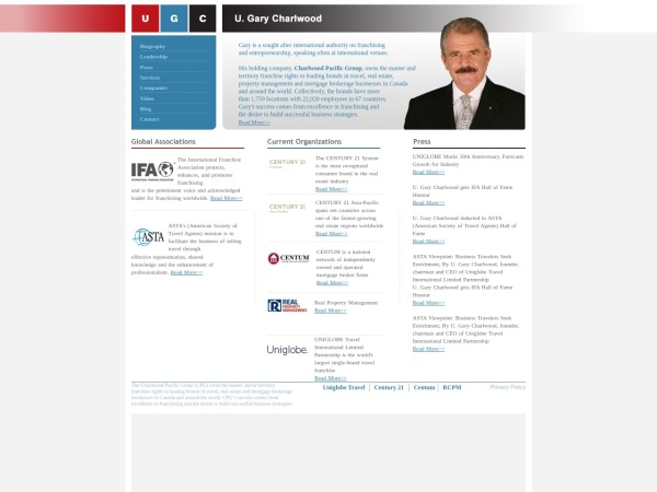 Screenshot of www.ugarycharlwood.com