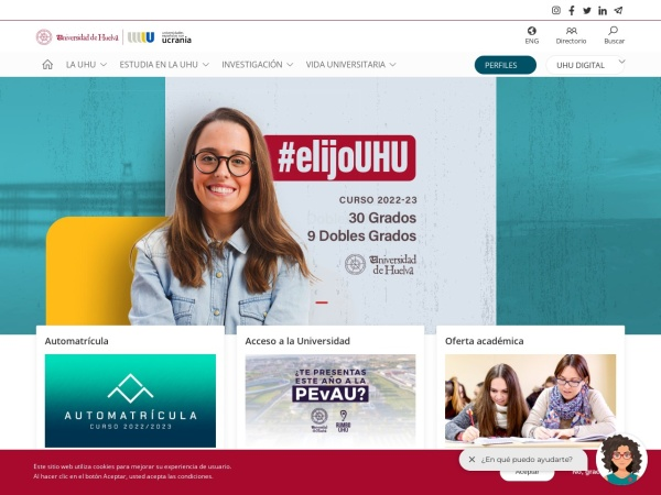 Screenshot of www.uhu.es