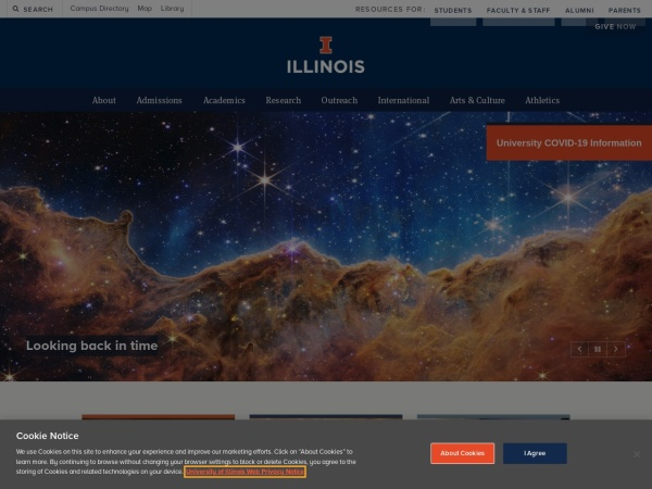 Screenshot of www.uiuc.edu