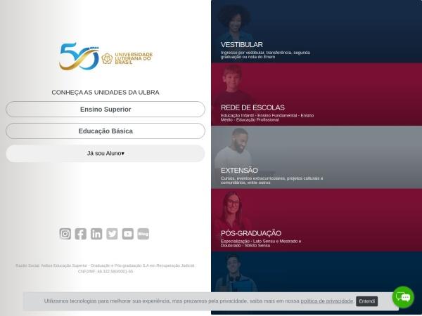 Screenshot of www.ulbra.br