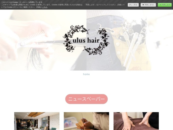 Screenshot of www.ulushair.com