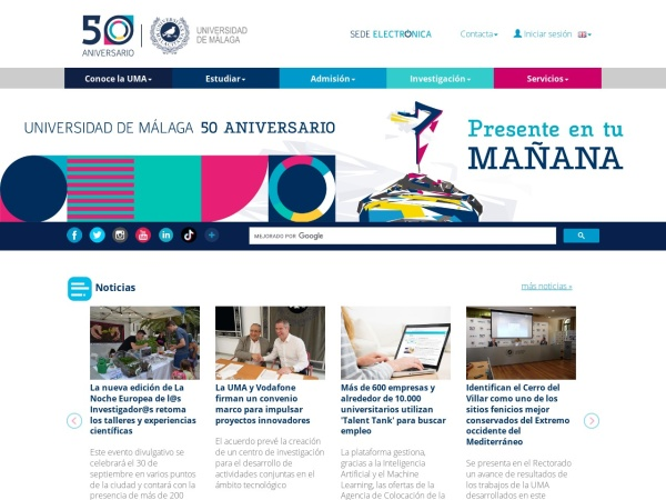 Screenshot of www.uma.es