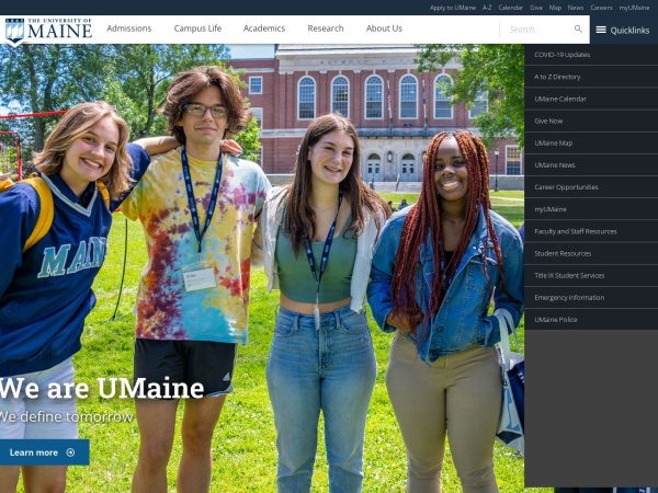 Screenshot of www.umaine.edu