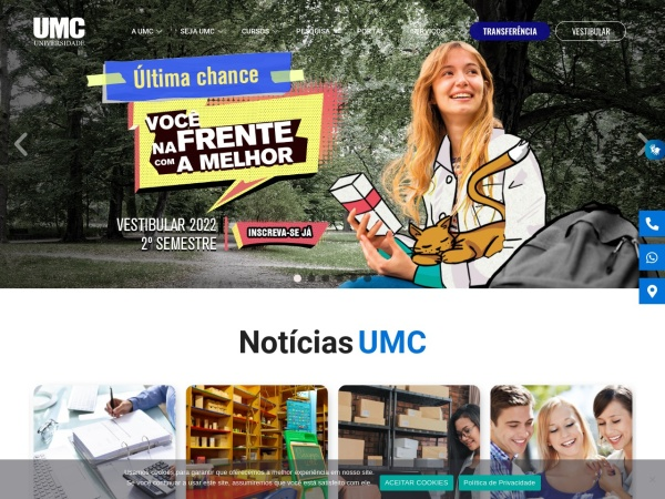 Screenshot of www.umc.br