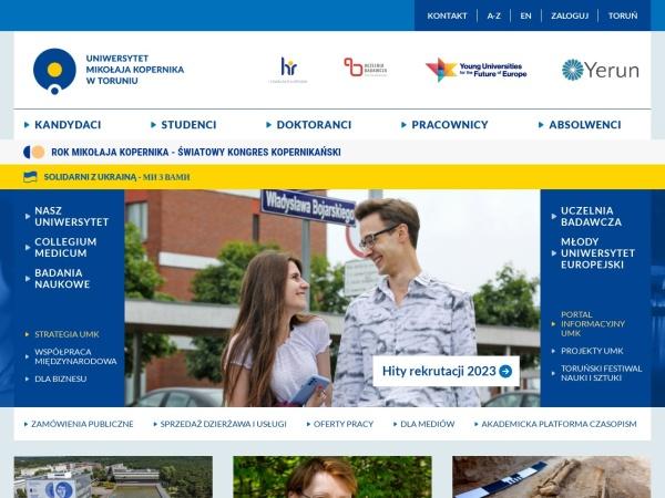 Screenshot of www.umk.pl