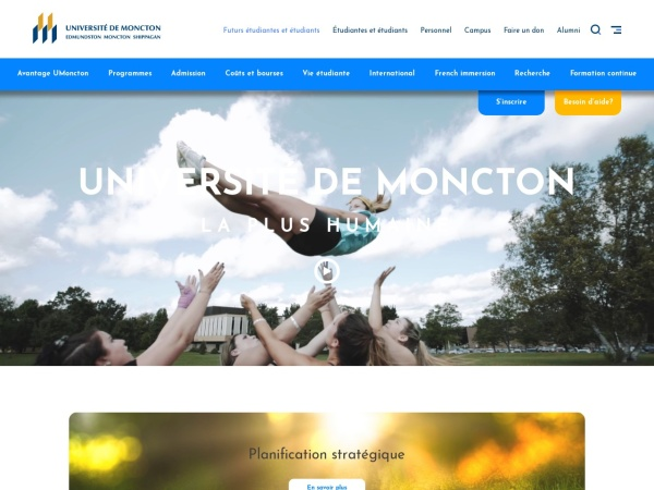 Screenshot of www.umoncton.ca