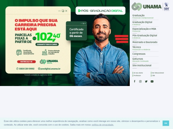 Screenshot of www.unama.br