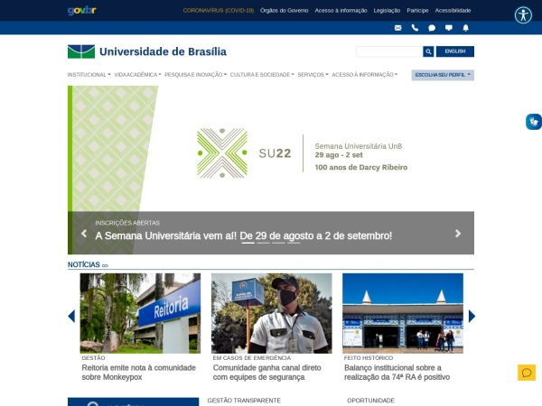 Screenshot of www.unb.br
