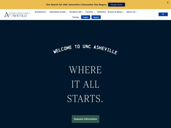 Screenshot of www.unca.edu