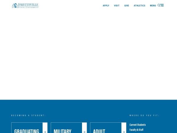 Screenshot of www.uncfsu.edu