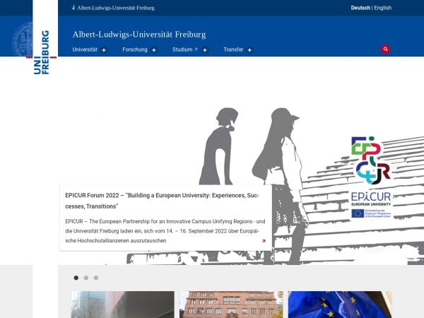 Screenshot of www.uni-freiburg.de