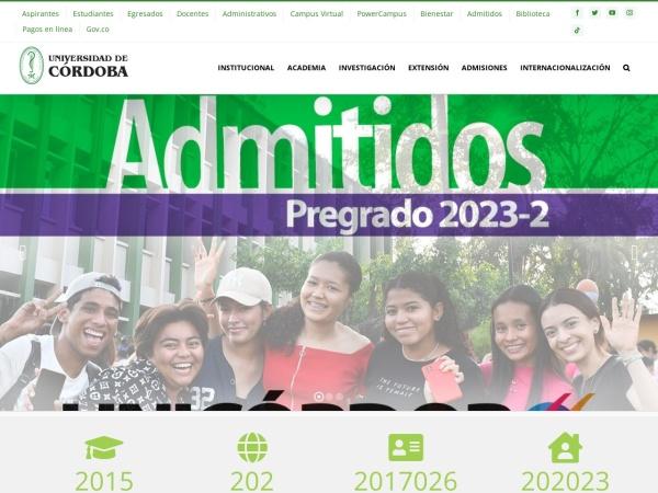 Screenshot of www.unicordoba.edu.co