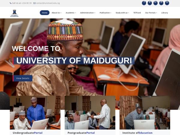 Screenshot of www.unimaid.edu.ng