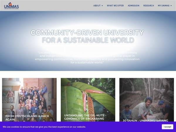 Screenshot of www.unimas.my