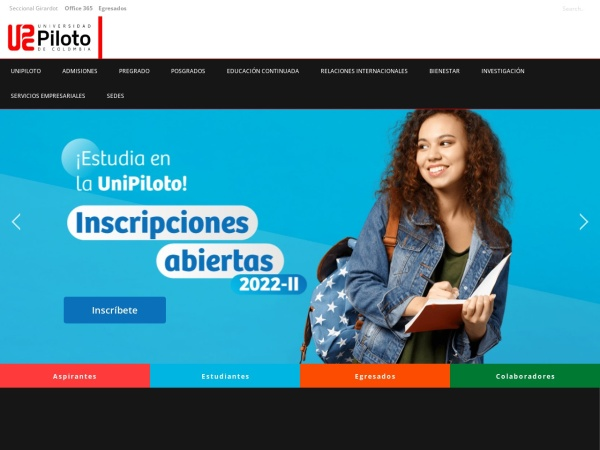 Screenshot of www.unipiloto.edu.co