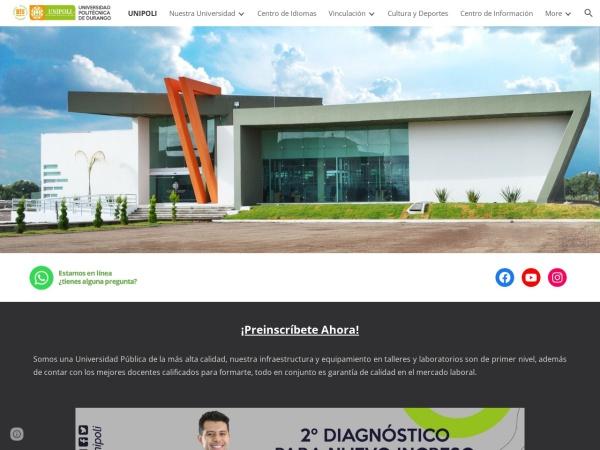 Screenshot of www.unipolidgo.edu.mx