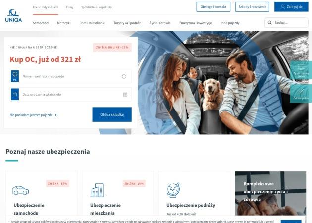 Screenshot of www.uniqa.pl