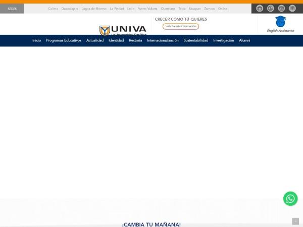 Screenshot of www.univa.mx