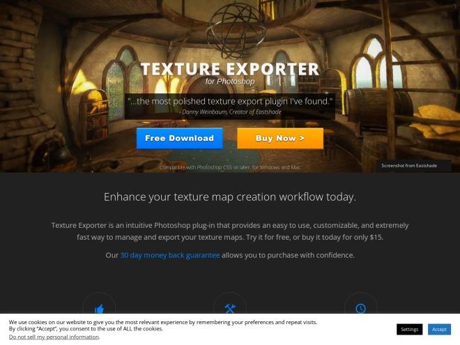 http://www.unorthodoxentertainment.com/texture-exporter/