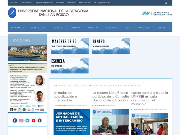 Screenshot of www.unp.edu.ar