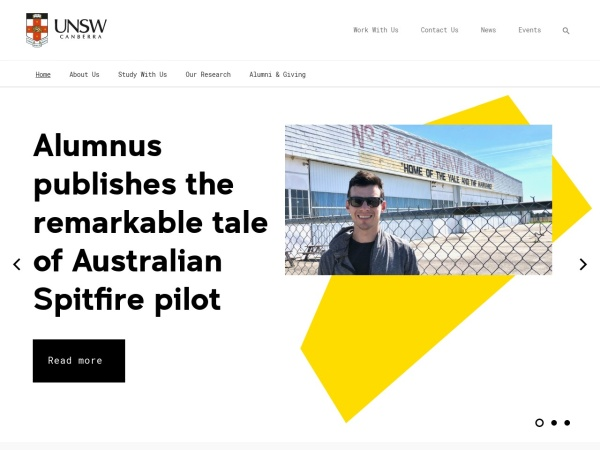 Screenshot of www.unsw.adfa.edu.au