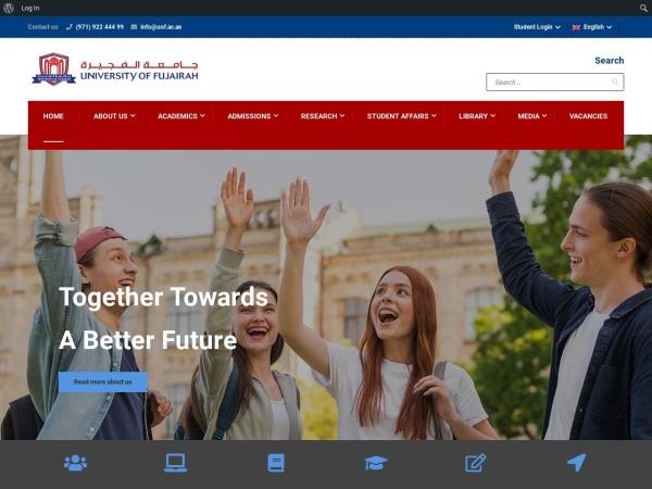Screenshot of www.uof.ac.ae