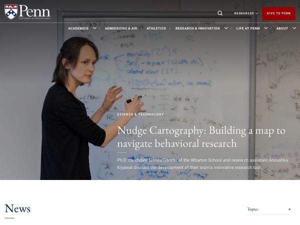 Screenshot of www.upenn.edu