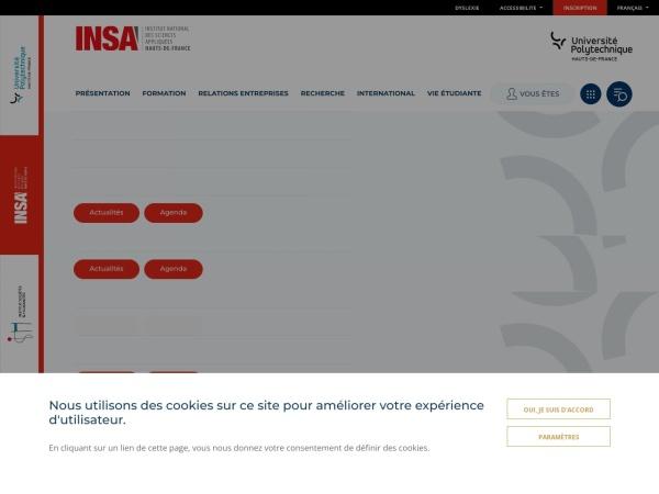 Screenshot of www.uphf.fr