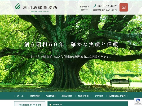 Screenshot of www.urawa-law.jp
