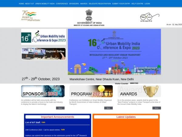 Screenshot of www.urbanmobilityindia.in
