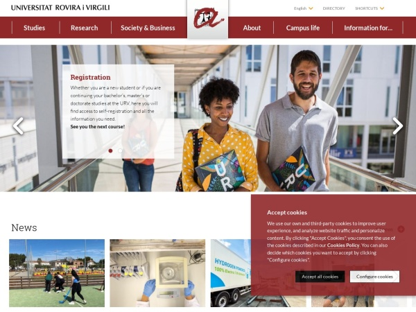 Screenshot of www.urv.cat
