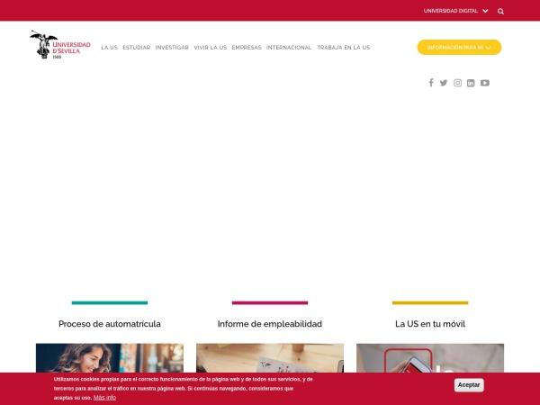 Screenshot of www.us.es