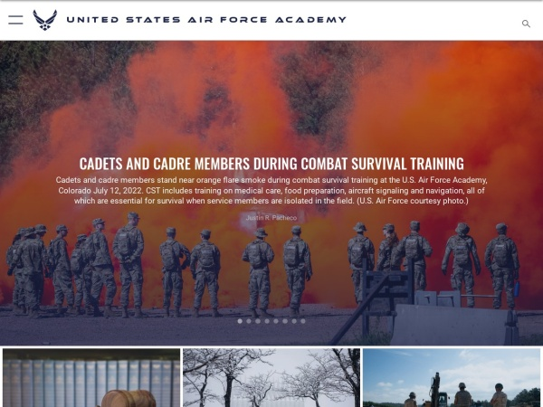 Screenshot of www.usafa.af.mil