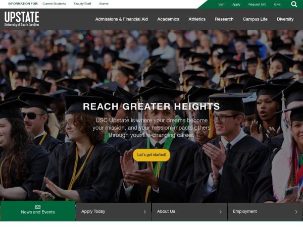 Screenshot of www.uscupstate.edu