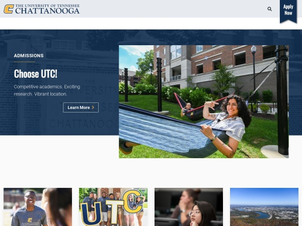 Screenshot of www.utc.edu