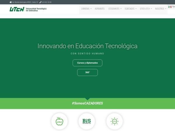 Screenshot of www.utch.edu.mx